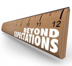 Beyond Expectations Ruler Exceed Results Great Job