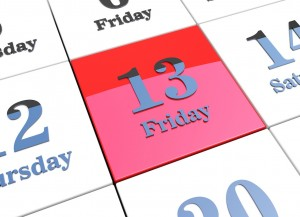 Friday 13th on 3d calendar